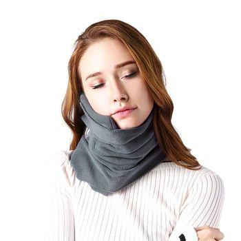 Criativo lenço de viagem travesseiro avião pescoço cachecol travesseiro confortável almofadas portátil travesseiro cervical carro escritório nap travesseiro|Almofada para pescoço|Automóveis e motos -