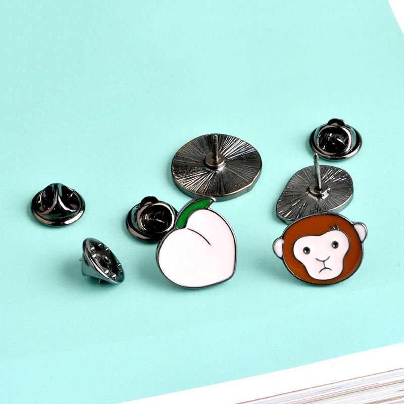 Trái cây mùa hè men chân xòe Sỉ hoạt hình Dễ Thương Thông Apple Bơ Apple Lapel pin phù hiệu Vật Có Áo Sơ Mi túi Món quà trang sức