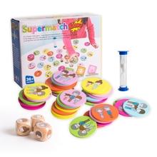 Деревянная игрушка, деревянный пазл, суперматч, Банг, настольный, смешная память, мультяшный узор, игра, семейная, родитель-ребенок, интерактивный подарок для ребенка