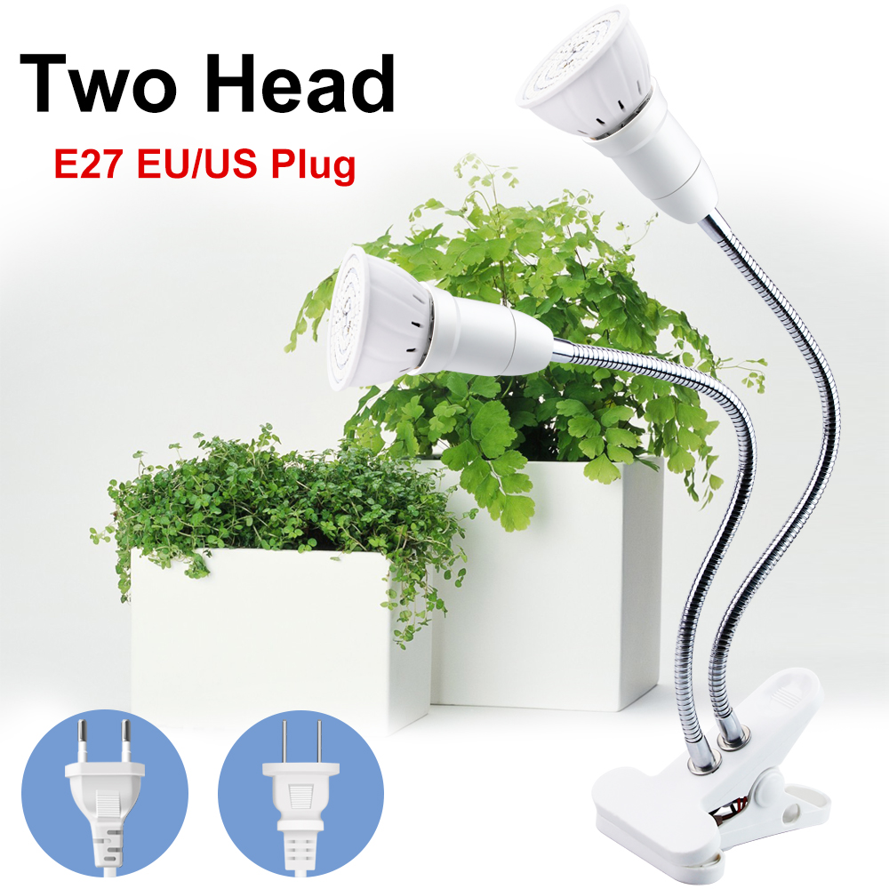 Grow Light LED Full Spectrum E27 Flexible Clip Indoor Plant Lamp EU US Plug Plant Growing Light For Seedlings Flowers Hydroponic