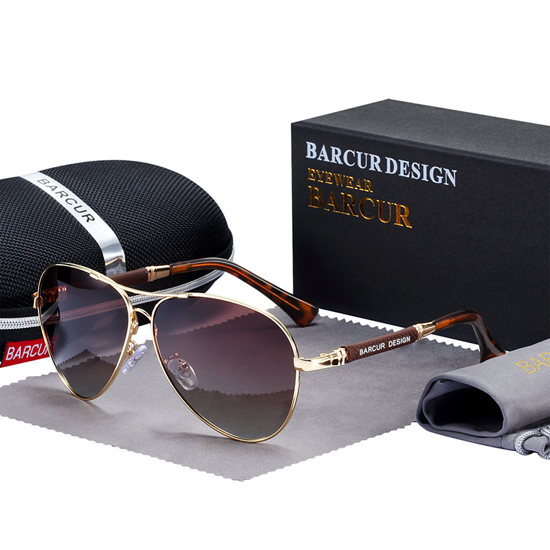 Hfb630c0136894635adef3c77566d4fd8s BARCUR TR90 Sunglasses Polarized Men's Sun glasses Women Pilot UV400 Mirror Oculos de sol