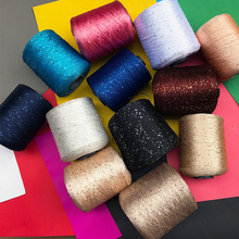 Free shipping 500g lot Fashion yarn multi color paillette yarn sequin setoffs capelet yean shawl yarn tanie tanio ZHONGYIJIATIMELY Combed Rayon Blended Yarn None Hand Knitting other Open End OE Eco-Friendly Polyester Cotton