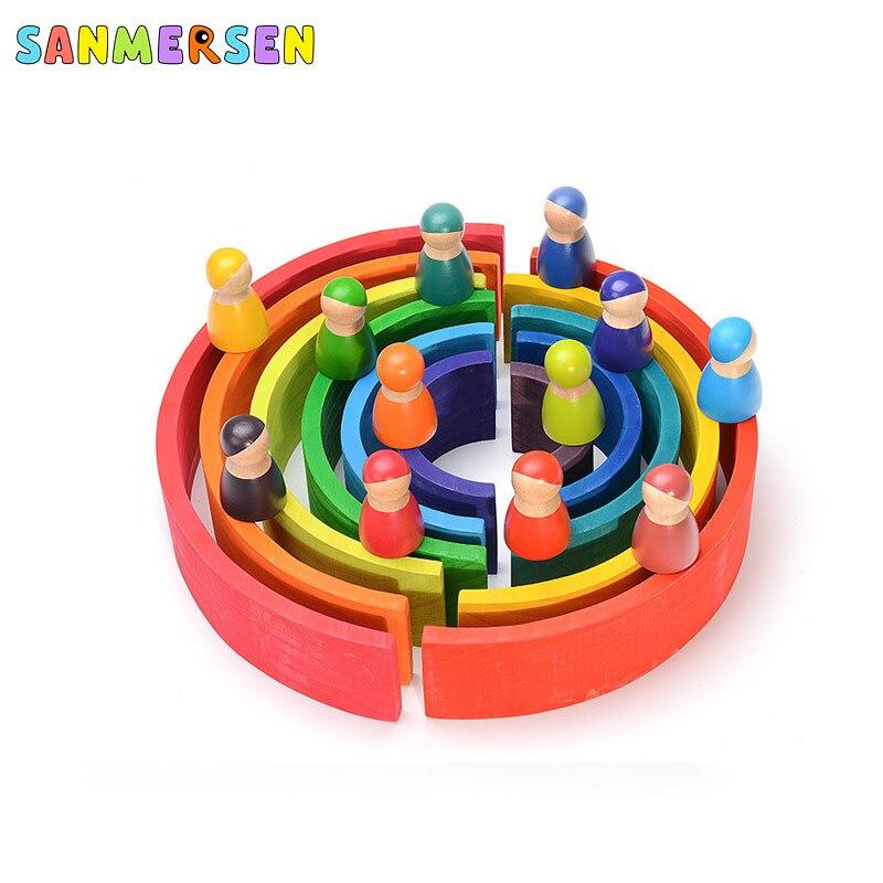 de construção brinquedos para crianças montessori brinquedo educativo
