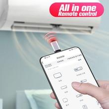 Smartphone אינפרא אדום שלט רחוק APP מיקרו USB סוג C IR USB מתאם עבור מזגן טלוויזיה תיבת מאוורר DVD אלחוטי תקע