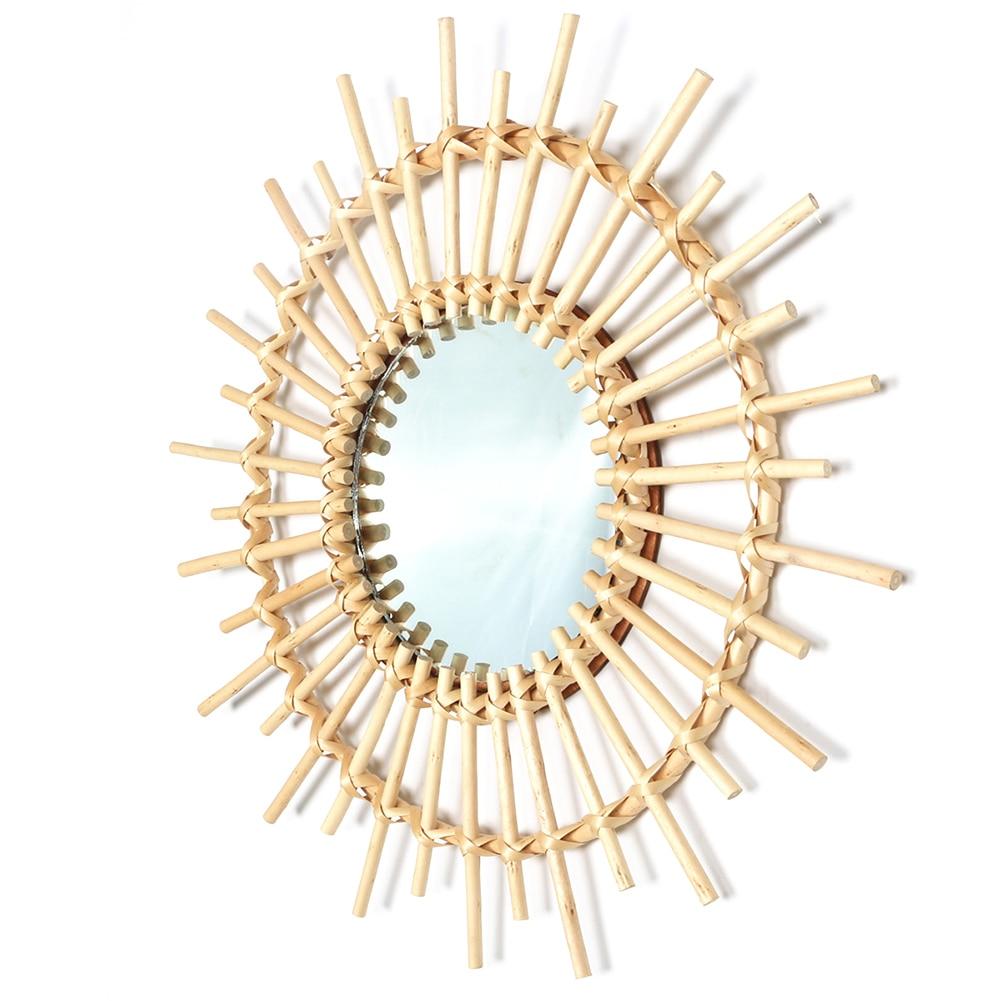 gold mirror wall decor.htm rattan mirror innovative art decoration round makeup mirror  rattan mirror innovative art decoration