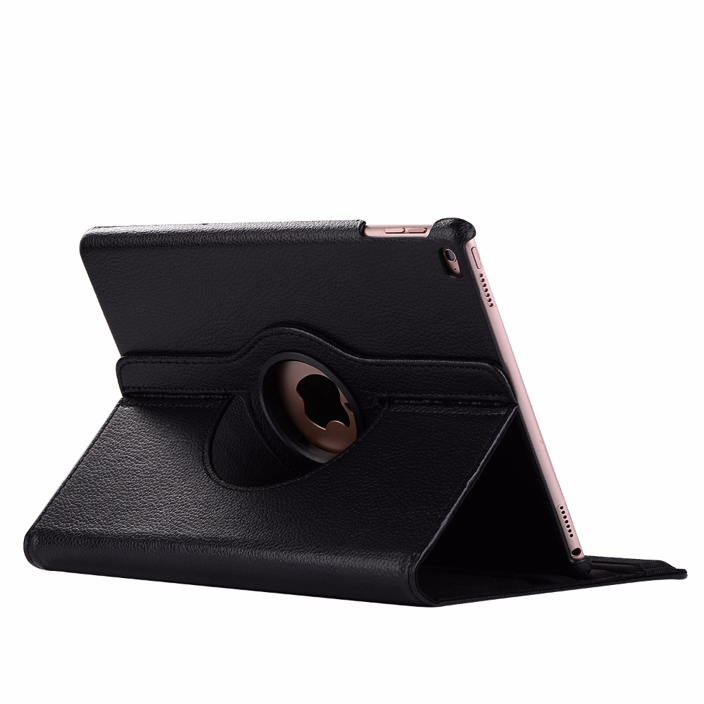 black Black 360 Degree Rotating PU Leather Flip Cover Case For iPad 10 2 2020 2019 8th 7th