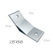 4 sztuk 2020 3030 4040 4545 6060 8080 9090 3060 4080 4590 45 135 stopni kąt rogu Connecotion dla aluminium wsparcie przewodnik tanie tanio Veesen NONE Metalworking CN (pochodzenie) Narożnych uchwytów Sliver Black Aluminum