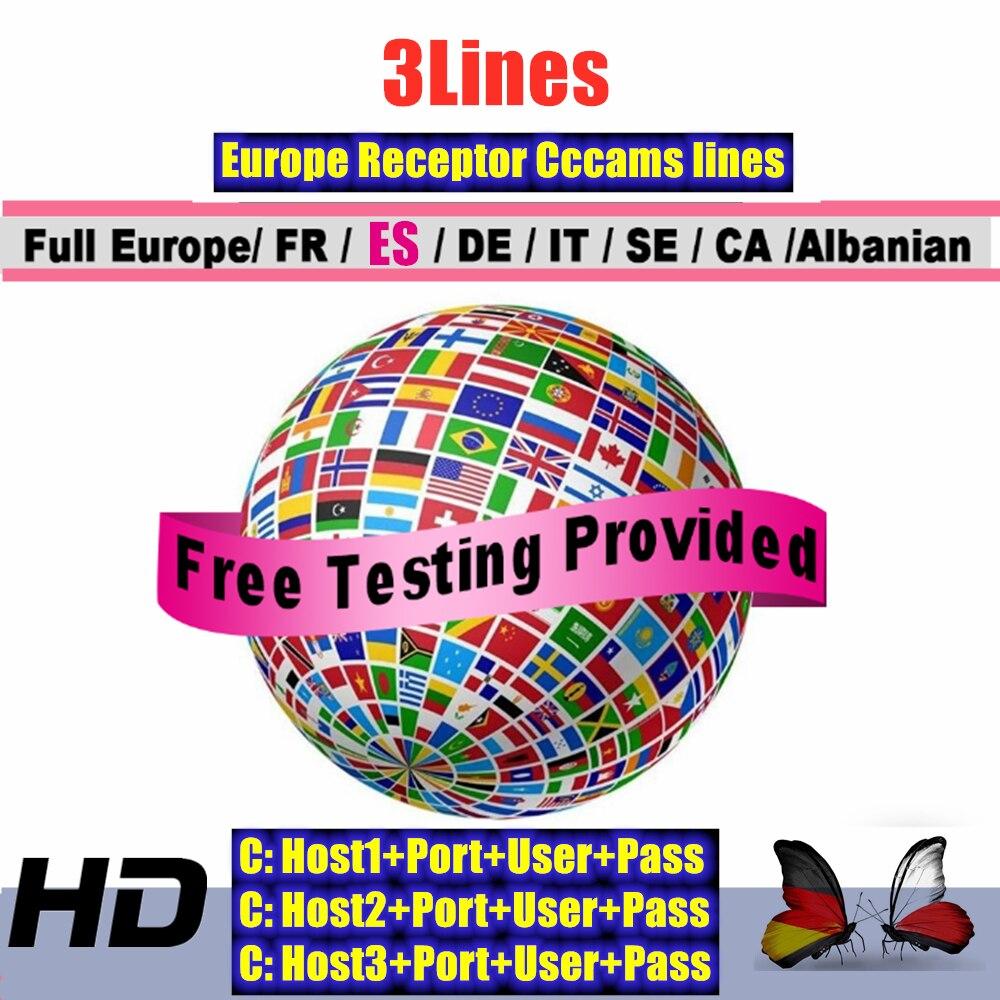 Europe Cccam España And Portugal Cccam Cline Germany HD Satellite Receiver Cccam Cline 3/ Lines FULL DVB-S2 Cccam Cline