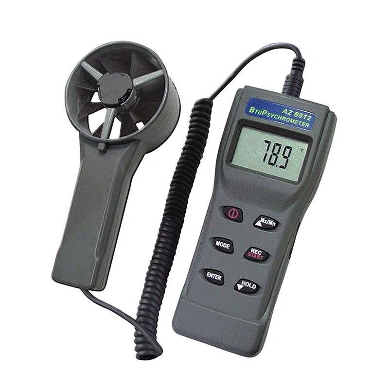 Volume de ar Ponto de Orvalho Temperatura do Bulbo Anemômetro Temperatura Umidade Molhado Az8912 &
