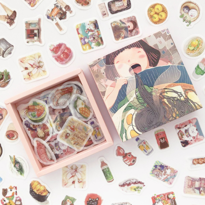 200 Pcs/pack Delicious Food Bullet Journal Decorative Box Stickers Scrapbooking Stick Label Diary Japanese Stationery Album
