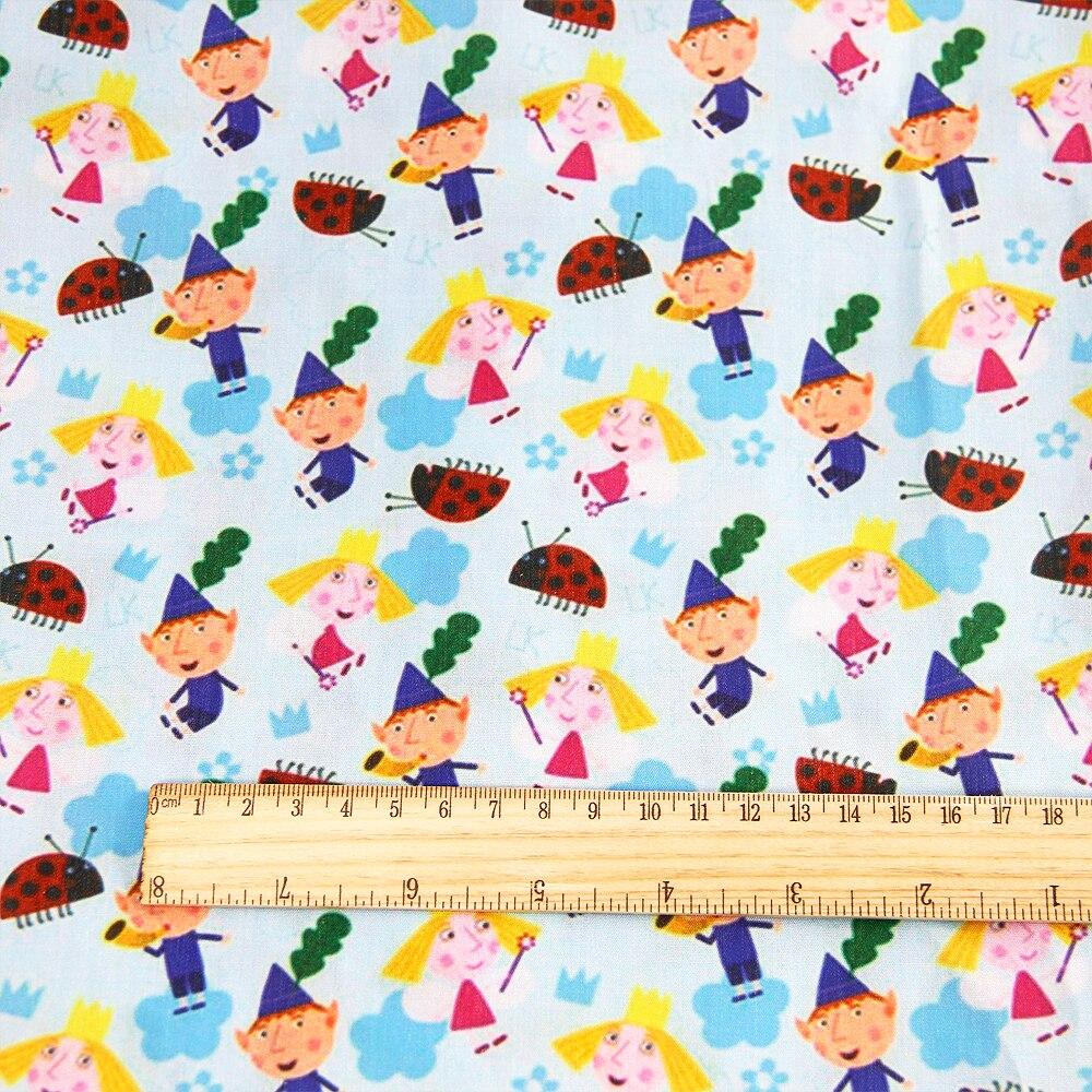 50*140 см мультфильм дизайн полиэстер хлопок ткань для ткани дети девочки платье Домашний текстиль для шитья ремесла, c2445 - Цвет: 1046409001