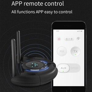 Image 4 - Odbiornik Bluetooth nadajnik wyświetlacz LCD obsługa aptX krótki czas oczekiwania bezprzewodowy Adapter Audio z 3.5mm Aux SPDIF 120M daleki zasięg
