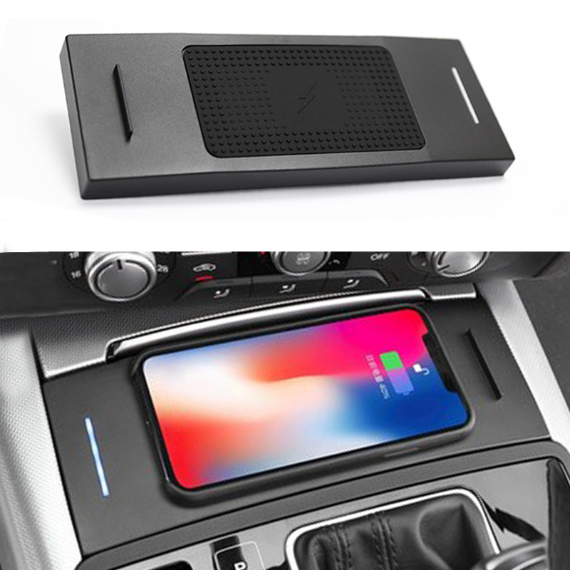 For Audi A6 C7 RS6 A7 2012 2018 10W car QI wireless charger charging plate wireless phone charger accessories for iPhone 8 X|Interior Mouldings| |  - title=