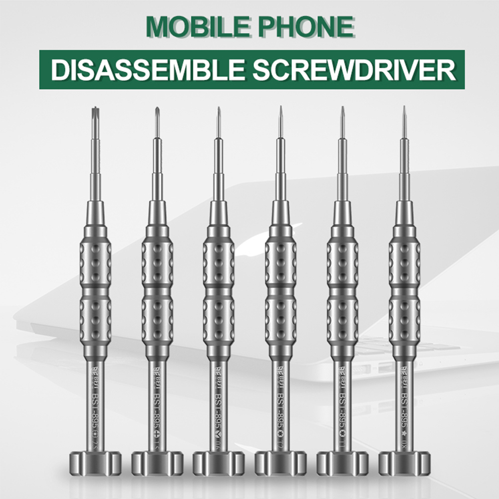 Chave de fenda magnética 3d p2 0.8 pentalobe y 0.6 tri asa t1 t2 torx 1.5 phillips m2.5 para iphone huawei oneplus vivo ferramentas reparo
