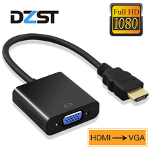 DZLST HDMI to VGA Adapter 1080P HDMI Male To VGA Female Converter Digital to Ana