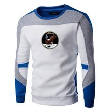 Apollo11 печать Мужские свитера весна осень парни хлопок хип-хоп лоскутное шить свитера мужской свободного покроя теплый свитер мужчин