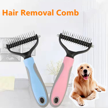 Hair Removal Comb for Dogs Cat Detangler Fur Trimming Dematting Deshedding Brush Grooming Tool For matted Long Hair Curly Pet pet hair removal brush comb pet grooming tools trimming hair shedding trimmer combs supply furmins for matted long hair cat dog