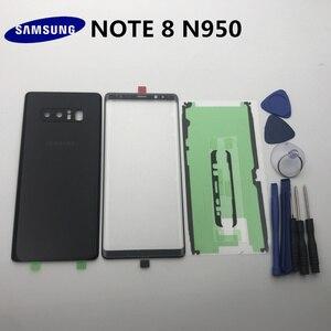 Image 5 - NOTE8 новый оригинальный чехол для Samsung Galaxy NOTE 8 N950 N950F Задняя стеклянная крышка для аккумулятора + передняя стеклянная линза + клей + Инструменты