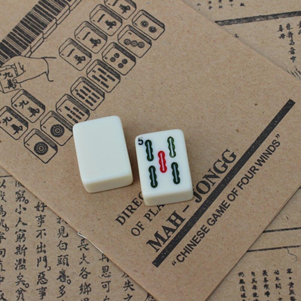 mahjong portátil inglês brinquedo antigo mah-jong jogo