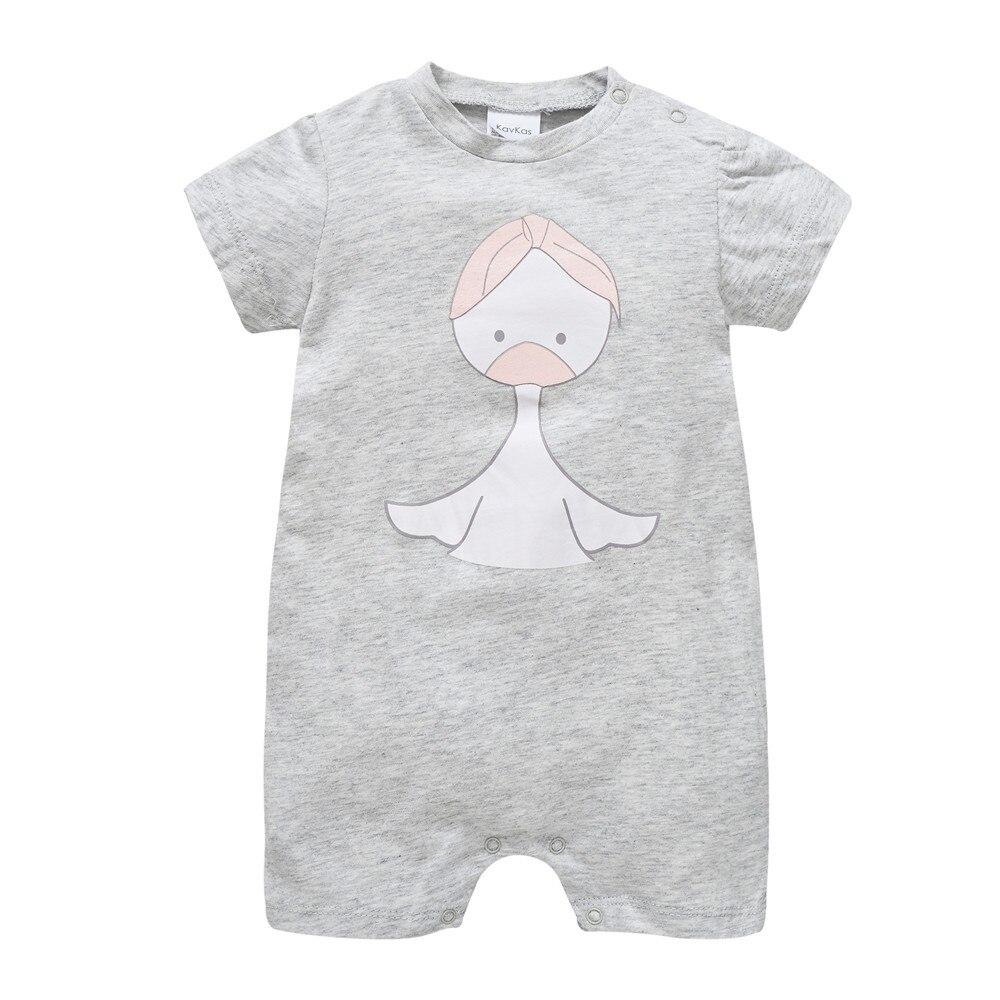 Kavkas 2020 Summer New Style Short Sleeved Girls Baby Romper Cotton Newborn Body Suit Baby Pajama Boys Animal Romper