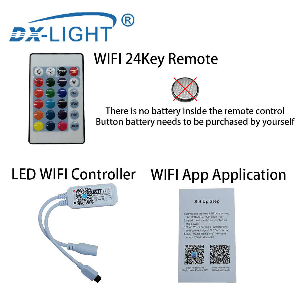 WIFI/RF/kontroler IR 5M 10M SMD5050 taśmy LED RGB taśma oświetlająca 12V dekoracji wakacje wodoodporny wąż ledowy wstążka 30 diod led/m