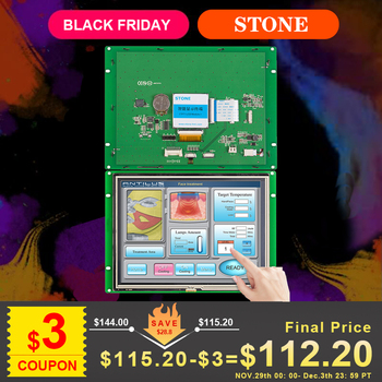 MCU Interface 8 inch HMI Color LCD Display with Controller + Software for Touch Control Panel tp04g bl c delta text panel hmi stn lcd single color 4 lines display model new in box
