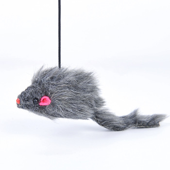 Hanging Cat Self-hey Toy Mouse Shape Retractable Elastic Rope Funny Cat Toy Adjustable Buckle Cat Entertainment Products image