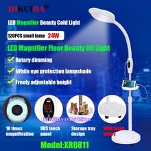 Upgrade LED Magnifyin Lamp 16x Magnifying Glass Cold Light Facial Light For Eyebrow Makeup Beauty Nail Tattoo Salon fill Lights