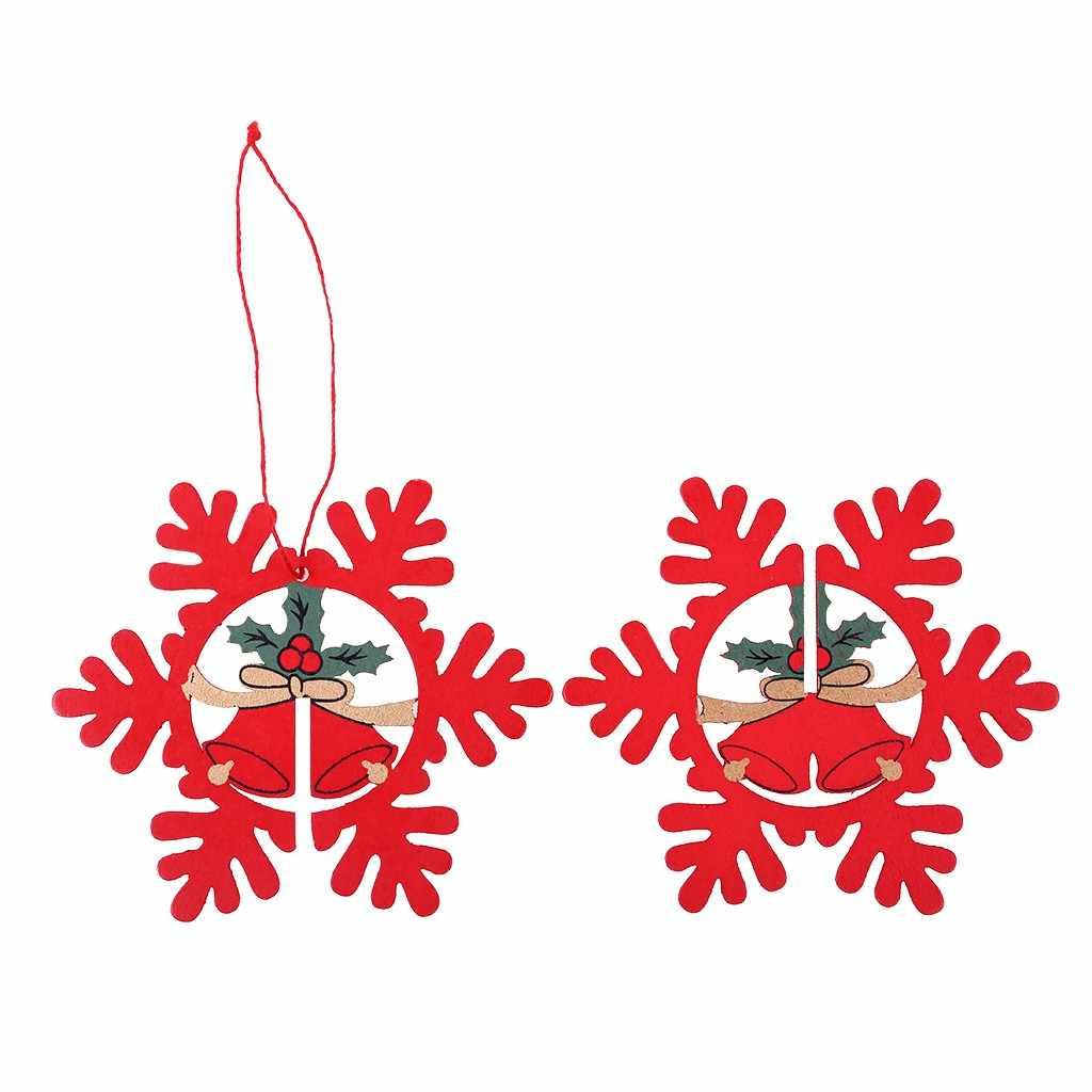 Hanger 1Pcs Kerst Hout Chip Boom Ornamenten Xmas Opknoping Hanger Home Decor Gift Kerst Thema Home Decoratie Artikelen