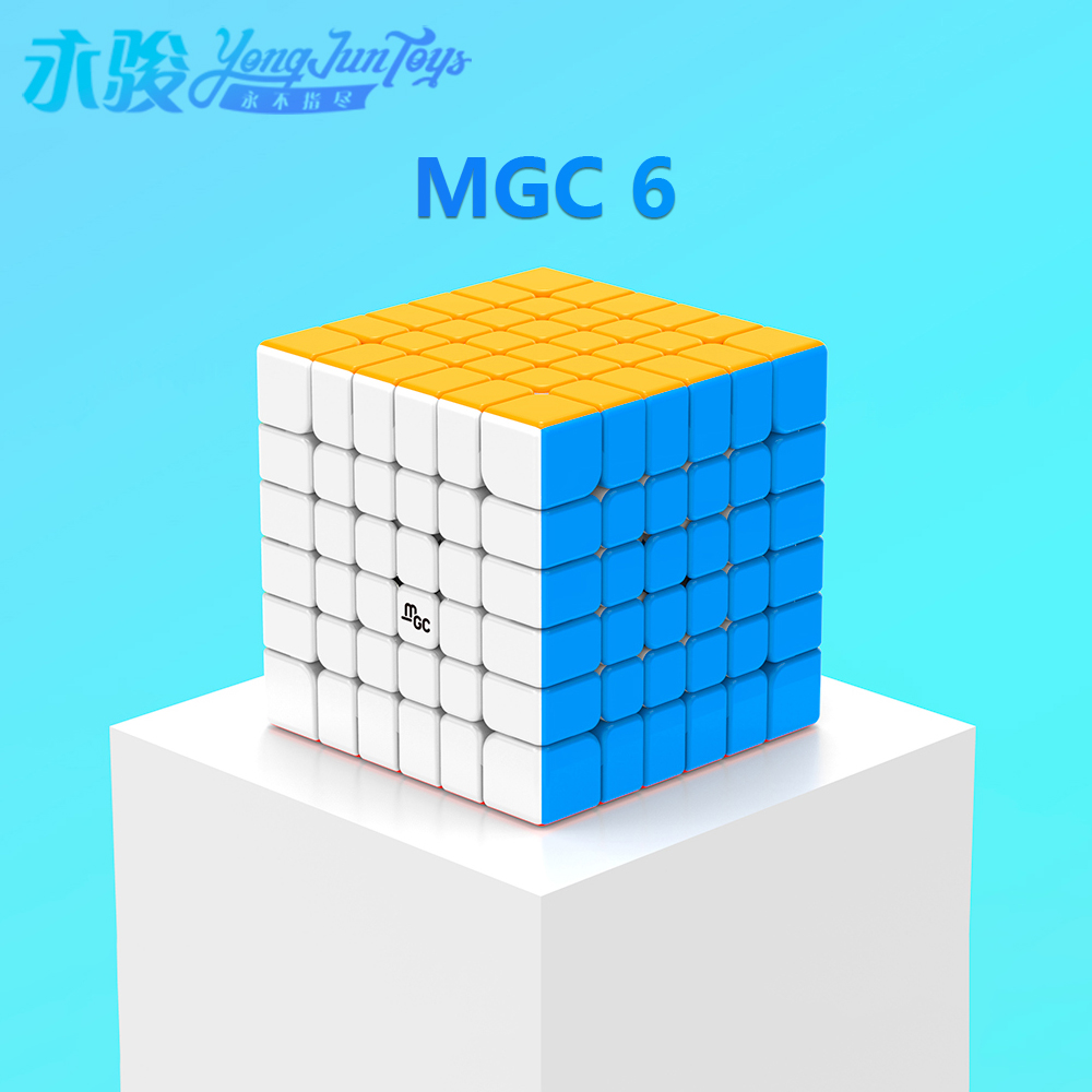 YONGJUN MGC 6 6x6 Magnetic Magic Cube YJ MGC 6 Magnets Puzzle Speed Cubes Educational Toys For Kids Cubo Magico 6x6