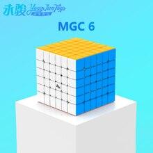 YONGJUN cube magnétique MGC 6 6x6, YJ MGC 6 aimants, cubes de vitesse, cube puzzle 6x6, jouets éducatifs pour enfants