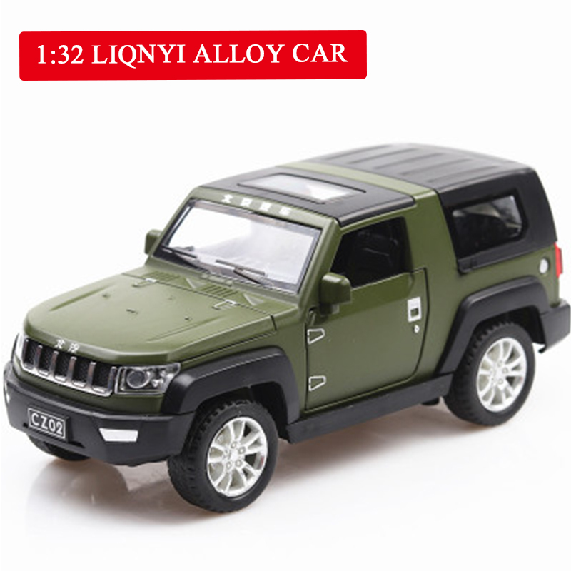 Beijing Jeep Off road SUV Vehicle Simulation Alloy Car Model Acoustic Light Return Pull Back Car Toy Model Engine Sound Boy Toys in Diecasts Toy Vehicles from Toys Hobbies