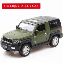 лучшая цена Beijing Jeep Off-road SUV Vehicle Simulation Alloy Car Model Acoustic Light Return Pull Back Car Toy Model Engine Sound Boy Toys