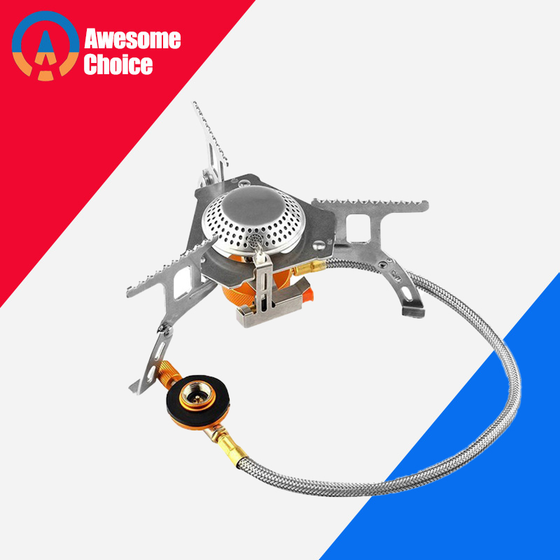 Quality Outdoor Gas Stove Camping Gas Burner Folding Electronic Stove Hiking Portable Foldable Split Stoves 3000W