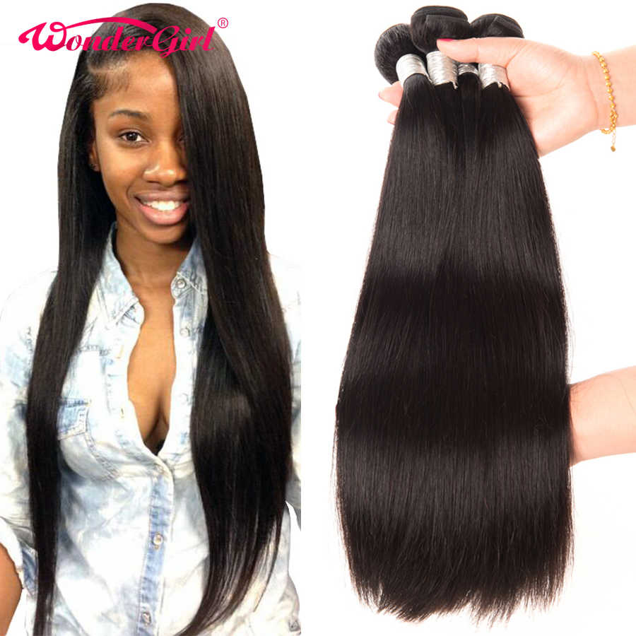 28 30 inch Bundles Peruvian Straight Hair Bundles Wonder girl Human Hair Bundles 100% Remy Hair 3/4 Bundles Can Be Dyed