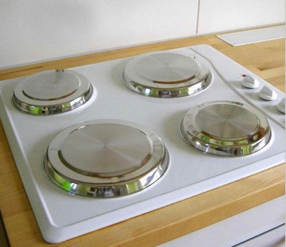 Round Stove Top Cover 4pcs/set Kitchen Cooker Protect tools Stainless Steel Oven Plate Cover Cookware lid