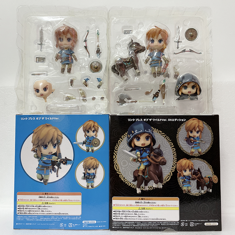 Nendoroid Figure Link 733-<font><b>DX</b></font> Breath of the Wild Ver <font><b>DX</b></font> Edition PVC Action Figure Model <font><b>Toy</b></font> Doll Gift image