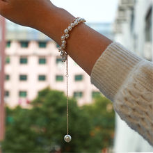 Simple Jewelry Fashion Creative Pearl Bracelet Long Pendant Bracelets Women Jewelry Accessories Pulseras Mujer Bijoux Femme(China)