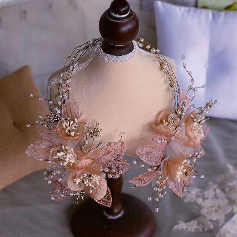 Fleur royale bandeaux de mariée diadèmes bandeaux de mariage doux coiffe de tête de soirée accessoire de cheveux de mariage