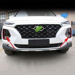Image 4 - Kit de faros antiniebla para Hyundai Santa Fe Santafe IX45 2019 2020, accesorios de exterior, estilo cromado, embellecedor de admisión de aire