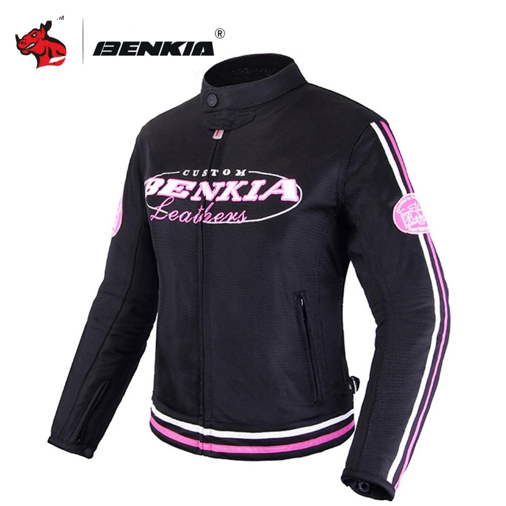 BENKIA Женская мотоциклетная куртка весна лето осень Защитное снаряжение Одежда дышащая сетка одежда для гонок для верховой езды Мото куртка