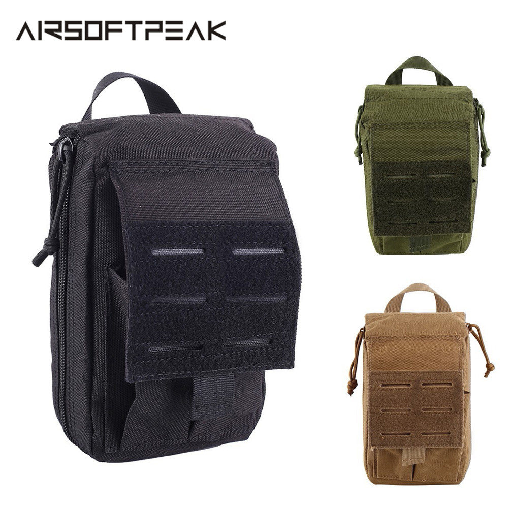 Tactical Medical Pouch First Aid EDC Pouch Molle System Emergency  Tool Accessory Travel Camping Kit Survival Bag Cover Hunting