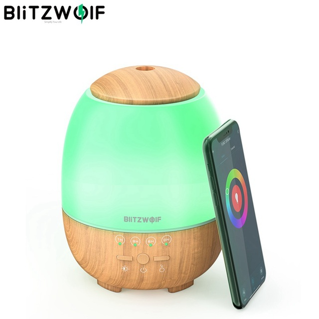 BlitzWolf BW FUN3 Wi Fi Essential Oil Diffuser Ultrasonic Aromatherapy Humidifier APP Control Home Control  7 Colorful Light