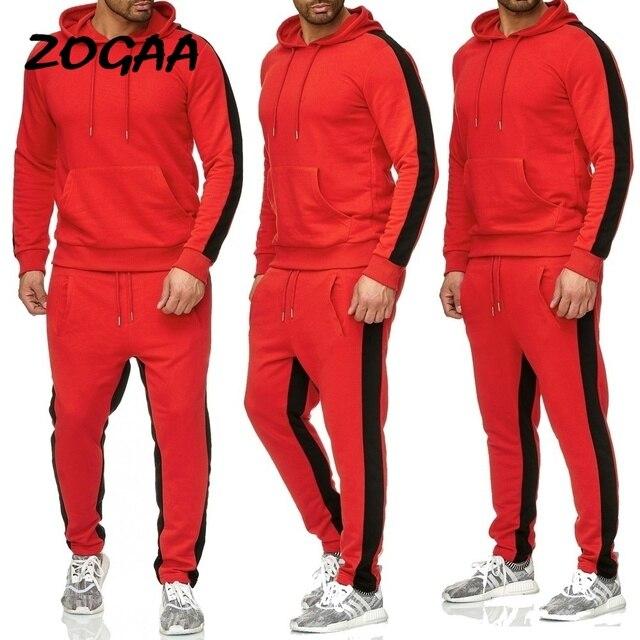 ZOGAA 2019 Men Jogging Hoodie Sweatpants Set Casual Male Pullover Sweat Hoodie + Pants Sports Men's Tracksuit 1