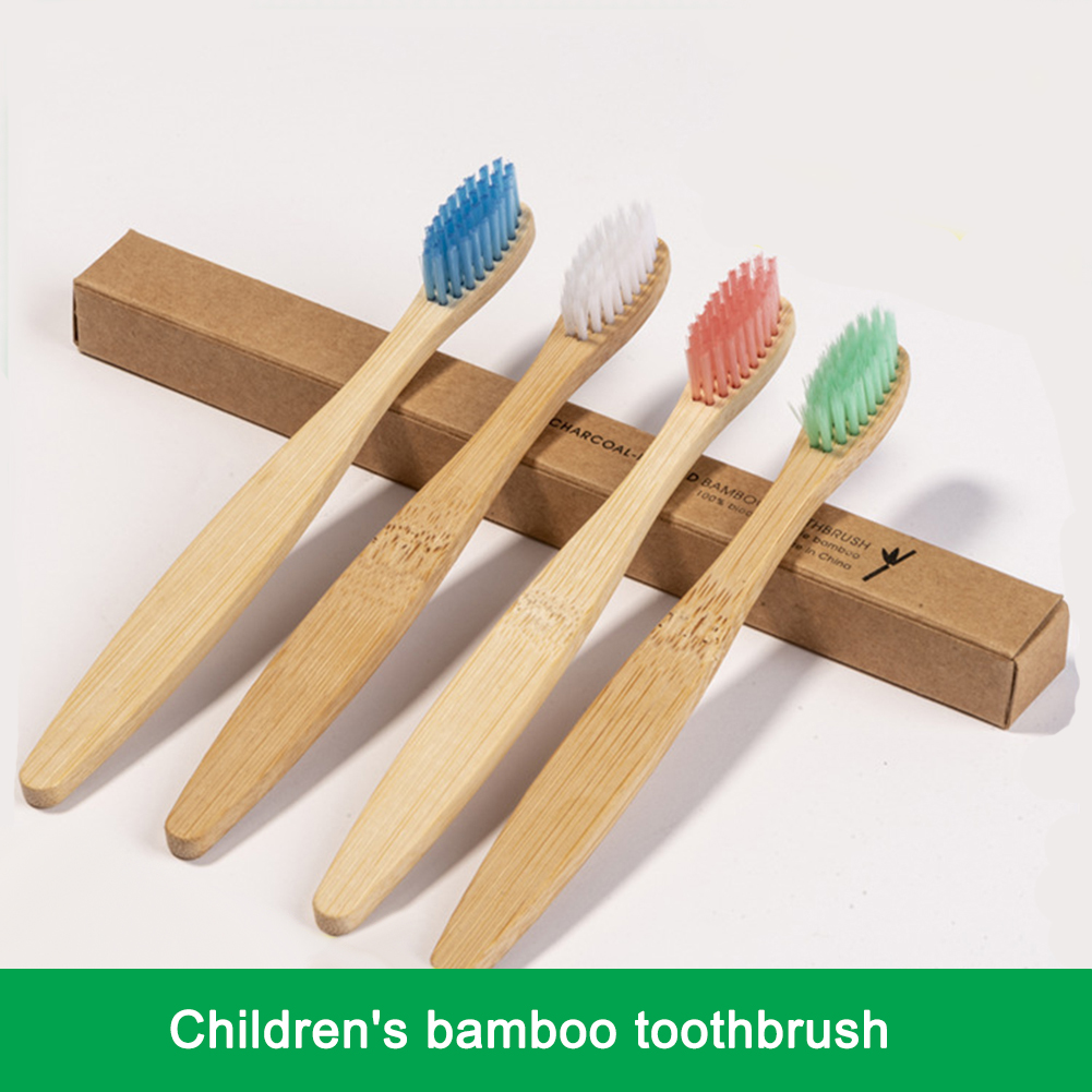 10pcs Environment-friendly Bamboo Children's Toothbrush Oral Care Bamboo Soft Bristles Tooth brush Whitening Child Toothbrush image