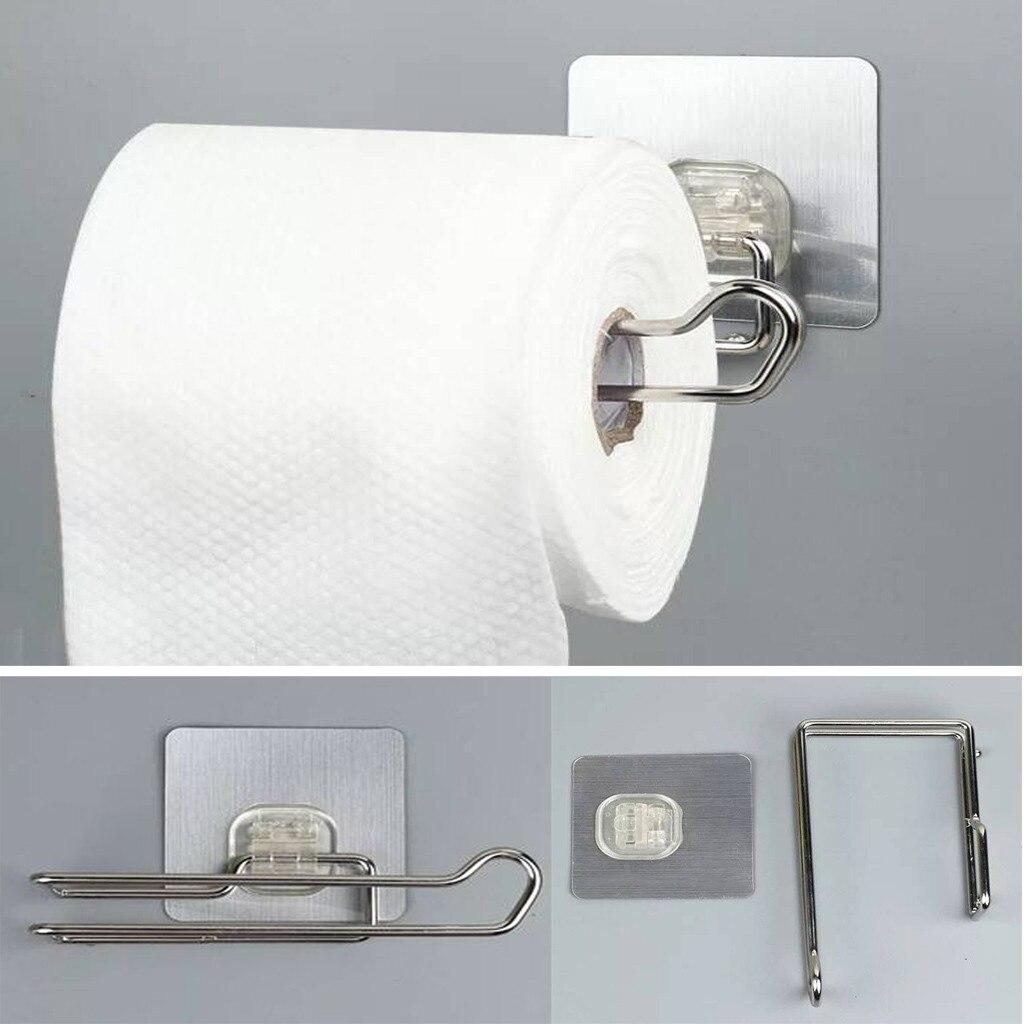 Punch-free Paper Towels Holder Stainless Steel Bathroom Toilet Napkin Holder Towels Racks Kitchen Shelf Porta Papel Higienico