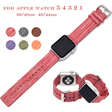 Nylon Watch Band for Apple Watch 42mm 5 4 3 2 1 Band 38mm 42mm Canvas Nylon 40mm 44mm Sports Bands For Iwatch Series 4 5 Strap 5 silicone double buckle sports watch straps for apple watch band 44mm 42mm 40mm38mm series 5 4 3 2 1 wrist bands for iwatch strap