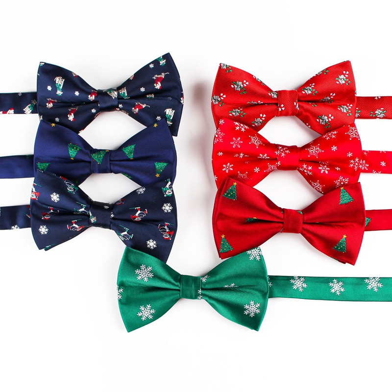 Christmas Bow Tie Children Snowflake Tree Xmas Pattern Bowtie For Adult Boys Kids Gifts BowTies Man Festival Party Accessories