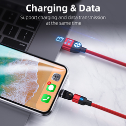 3A Fast 5 pin USB cables with rotateble connector surport charging and data tansfer For xiaomi huawei iphone phone accessaries