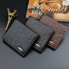 Moda masculina bifold carteira id titular do cartão de crédito embreagem portfel carteiras casuais curto moeda bolsa carteras dinheiro billetera hombre